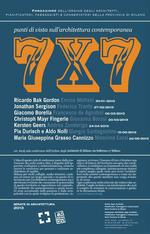 7x7 punti di vista sull'Architettura contemporanea  Fondazione dell'Ordine degli Architetti di Milano